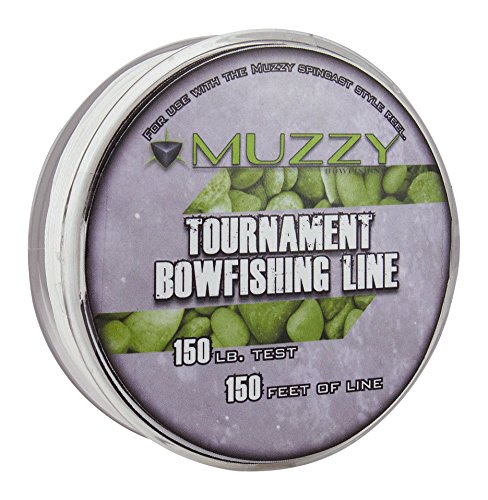 Muzzy 1076 Spool Size 150 #Tournament Bowfishing Line, 150 ft. Bowfishing Line