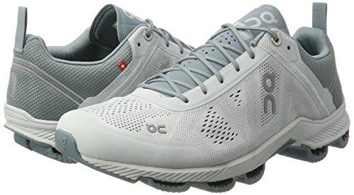 On , Chaussures de running pour homme Violet Noir/vert citron Multicolore (Glacier / White)