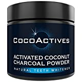 Teeth Whitening Activated Charcoal Powder - Natural Teeth Whitener By CocoActives - Organic Coconut Charcoal - Made in the USA