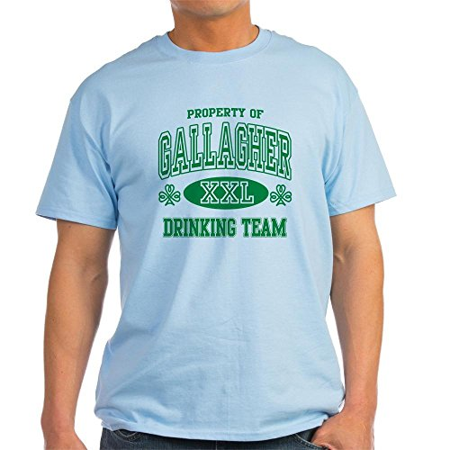 CafePress - Gallagher Irish Drinking Team Light T-Shirt - 100% Cotton T-Shirt (T-shirt Light Drinking Team)