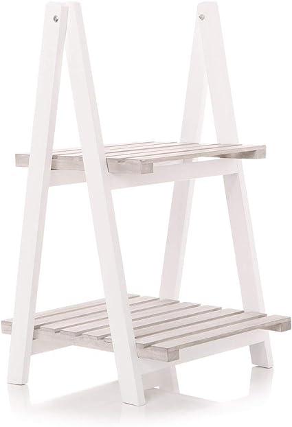 Estantería de Almacenamiento de Muebles de toraje, Color Blanco, para Libros, estantes, Escalera o Estante Blanco Natural: Amazon.es: Electrónica