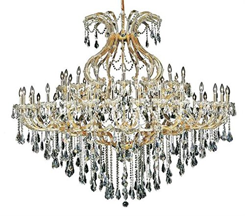 Karla Gold Traditional 49-Light Grand Chandelier Swarovski Elements Crystal in Crystal (Clear)-2381G72G-SS--48