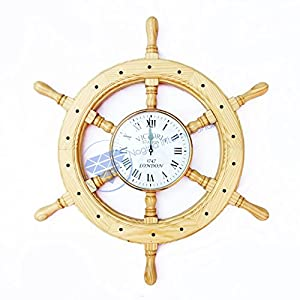 51se9hrZ1mL._SS300_ Best Ship Wheel Clocks