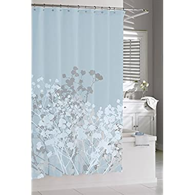 Kassatex Fine Linens Willow-Spa Blue Shower Curtain, Blue