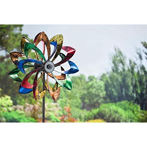 Evergreen Garden LED Flower 75 inch Metal Kinetic Solar Wind Spinner by Evergreen Garden (Image #1)