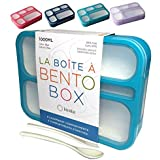 Bento Box Lunch-Boxes for Kids Adults   Kid Snack Container   Leakproof School Bentobox 6 Compartment Portion Containers for