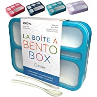 Bento Box Lunch-Boxes for Kids Adults | Kid Snack Container | Leakproof School Bentobox 6 Compartment Portion Containers…