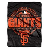 "MLB San Francisco Giants ""Structure"" Micro-Raschel Throw, Orange, 46 x 60-Inch"