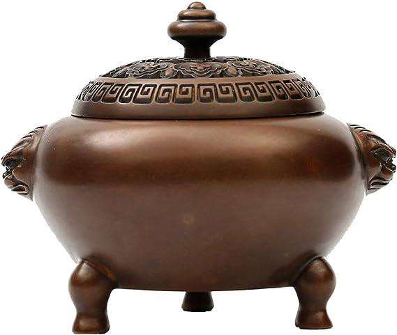 芳香器・アロマバーナー 純銅製香炉ベッドルーム沈香白檀炉アンティーク大三本足の銅香炉 アロマバーナー芳香器