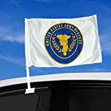 """Double Sided Car Flag - 12"""" x 15"""" with US Army Reserve, seal - Durable and long lasting"""