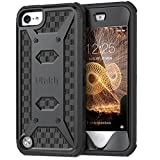 ULAK iPod Touch 6 Case,iPod Touch 5 Case,[KNOX ARMOR] Dual Layer Hybrid Protective