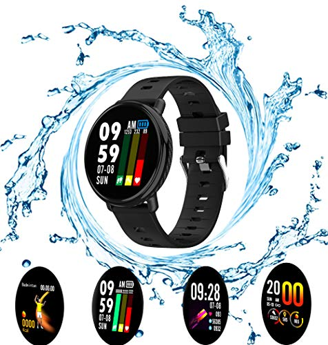Smart Watch, Fitness Tracker with Heart Rate Blood Pressure Sleep monitor for Android iOS, Waterproof Activity Tracker Watch with Calorie Counter Pedometer, Health Sport Watch for Women Men