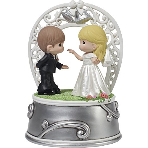 (Precious Moments 172101 First Dance as Mr. & Mrs. Bride & Groom Wedding March Resin Music Box)