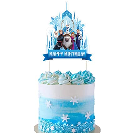 Fabulous Frozen Cake Topper Cupcake Decorations Birthday Party Topper For Funny Birthday Cards Online Fluifree Goldxyz