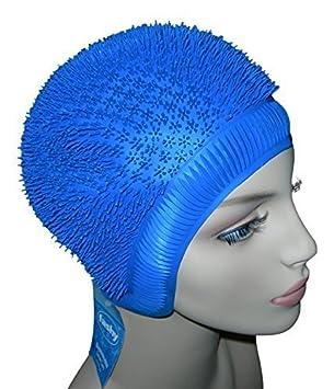 519ad7624c0f Bonnet de bain Mesdames Hérisson Picots Bonnet de natation Jaune Blanc  Rouge Bleu Bleu Bleu taille