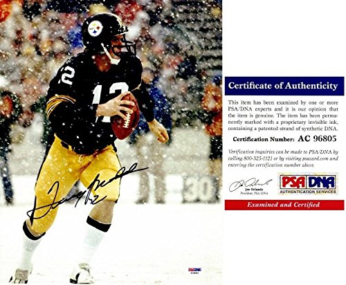 (Autographed Terry Bradshaw Photograph - 11x14 Certificate of Authenticity COA) - PSA/DNA Certified - Autographed NFL Photos)