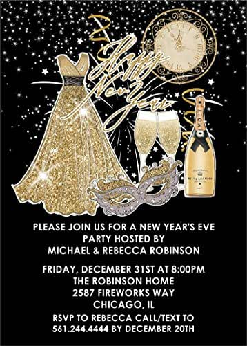 Amazon.com: New Years Eve Party Invitations With Envelopes ...
