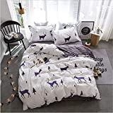 Floral Bed Linen Sheets Egyptian Cotton Bedding Sets Duvet Cover Flower Print Newest Queen King Bedspreads White 180x220cm