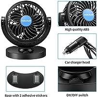 Ventilador de Coche 12V, Potente Ventiladores para vehículos ...