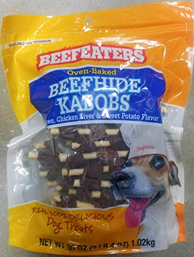 Beefeaters Beefhide Kabobs, 36 - Beef Treats Beefeaters