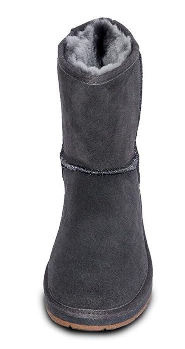 low priced 83ff5 ea579 Damen Fell Boots Lammfell Stiefel, Fellstiefel, Fellboots, camel, grau