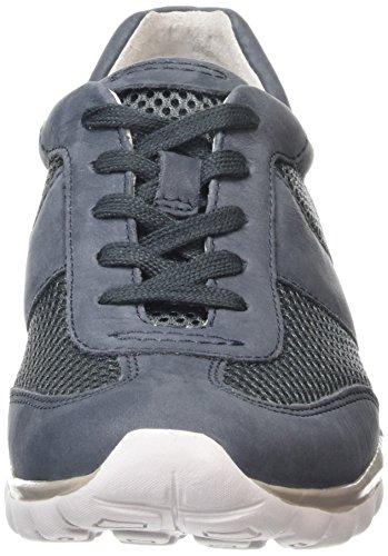 Bleu blue nubuck Gabor Helen Basses Sneakers Mesh Femme Xq1Zw7xw6I