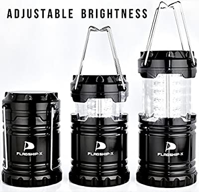 Insane Sale Flagship-X 2 Lanterns 1 Headlamp Camping Lights Brightest CREE LED Portable Electric Bonus Waterproof Head lamp Flashlight for Outdoors