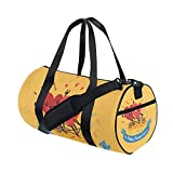 Hello Welcome Spring Summer Happy Hearts Valentines Day Love Sports Gym Shoulder Handy Duffel Bags for Women Men Kids Boys Girls