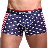 "Clearance! Men Underwear, Among Sexy ""US Flag"" Striped Breathable Men's Boxer Briefs Shorts Bulge Pouch Cotton Underpants (S, A)"
