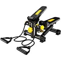 Premium Portable Twist Stair Stepper Adjustable Resistance, Twisting Step Fitness Machine with Bands and LCD Monitor…