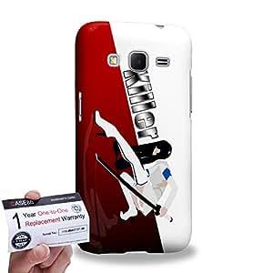 Case88 [Samsung Galaxy Core Prime G360] 3D impresa Carcasa/Funda dura para & Tarjeta de garantía - Art Design The Killer Personalities Red