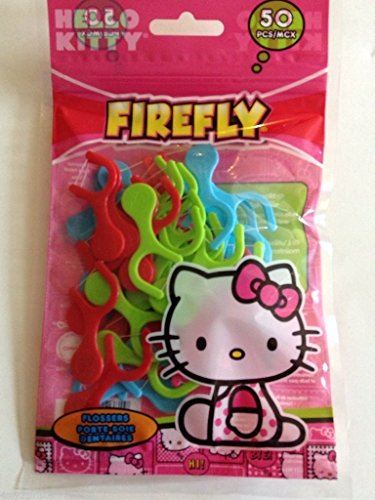 Hello Kitty Firefly Flossers Flossing
