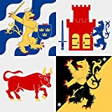 Cheap magFlags Large Flag Västra Götaland County | 1.35m² | 14.5sqft | 120x120cm | 45x45inch – 100% Made in Germany – long lasting outdoor flag