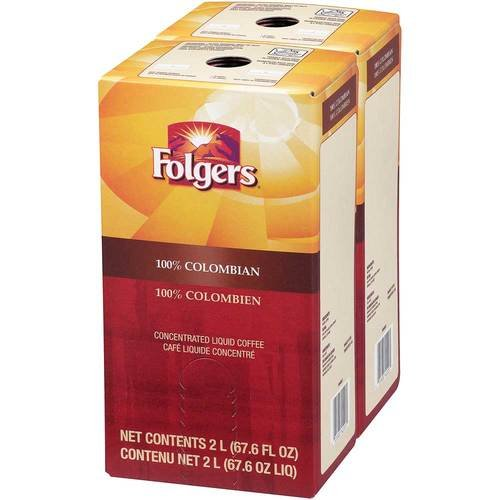 Folgers 100 Percent Colombian Coffee Liquid, 2 Liter - 2 per pack -- 1 each. by Folgers