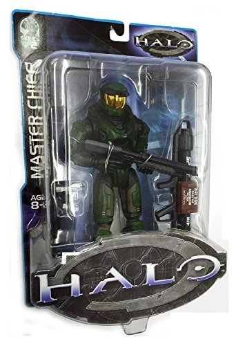 Halo Series Joyride - Halo Joyride Studios Series 1 Green Master Chief Action Figure with Pistol, Assault Rifle and Sniper Rifle