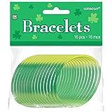 "AMSCAN 399325 Rubber Bracelets 2 1/2"" Green"