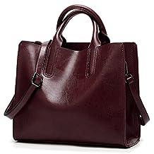 Seaoeey Women's Designer Quilted Tote Bag Shoudler Bag Satchel Handbag Large Purse with Strap