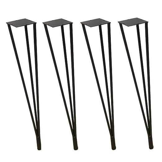Furniture legs HXBH Patas de Muebles de Oro Negro - Patas de Mesa ...