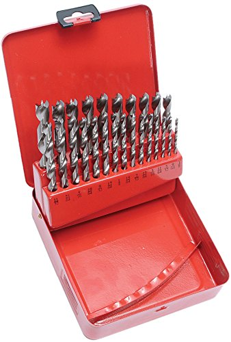 MLCS 9193 HSS Brad Point Drill Bit Set, 25 ()