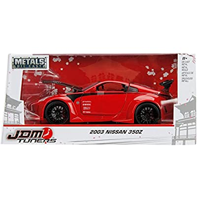 Jada 99110 2003 Nissan 350Z Red JDM Tuners 1/24 Diecast Model Car: Toys & Games