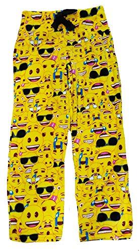 Emoji All Over Superminky Fleece Sleep Pants Yellow,XL (The Best Emoji App)