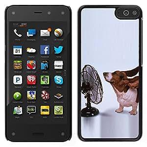 LECELL--Funda protectora / Cubierta / Piel For Amazon Fire Phone -- Orejas Basset Hound perro divertido Pequeño --