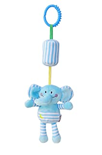 Tery Baby Toddler Toys Giocattoli per Bambini Cartoon Animal Hanging Rattle Toddler Toys, Soft Flock Fabric, con Campanello (Elefante)