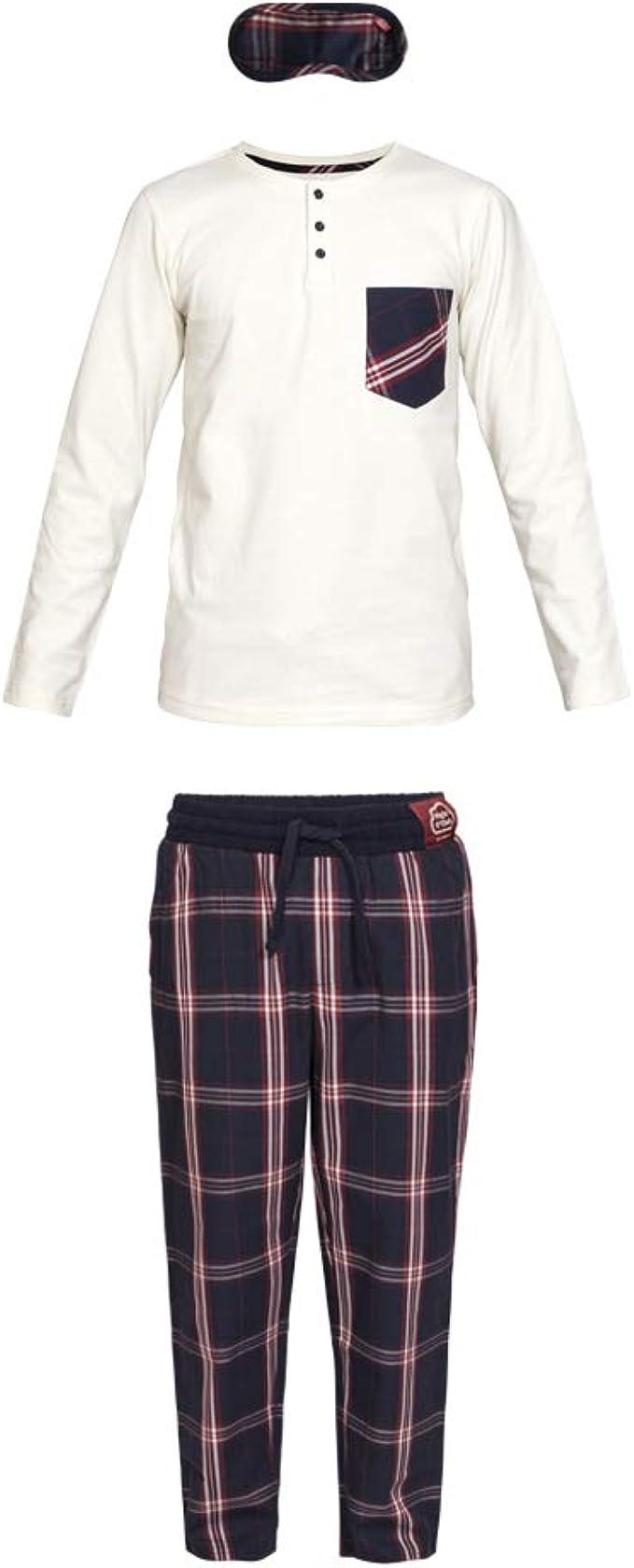 Nightoclock Bao Conjunto de Pijama para niño en algodón orgánico e Antifaz: Amazon.es: Ropa y accesorios