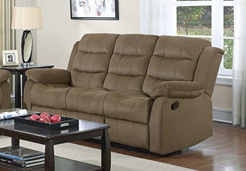 Coaster Home Furnishings 601884 Two-Tone Rodman Motion Collection Motion Sofa, Tan