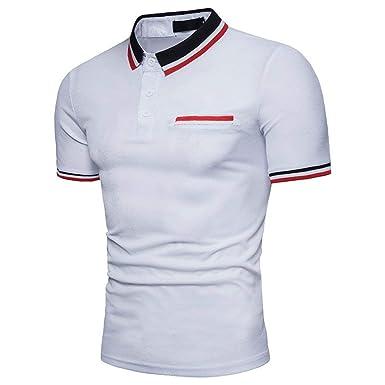 Camisa De Polo para Hombre De Verano De Tamaños Cómodos Solapa ...