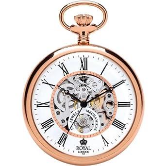 Mechanische Taschenuhr rose`mit Handaufzug Royal London 90049-03