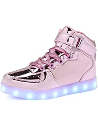 CIOR Kids Boy and Girl's High Top Led Sneakers Light Up...