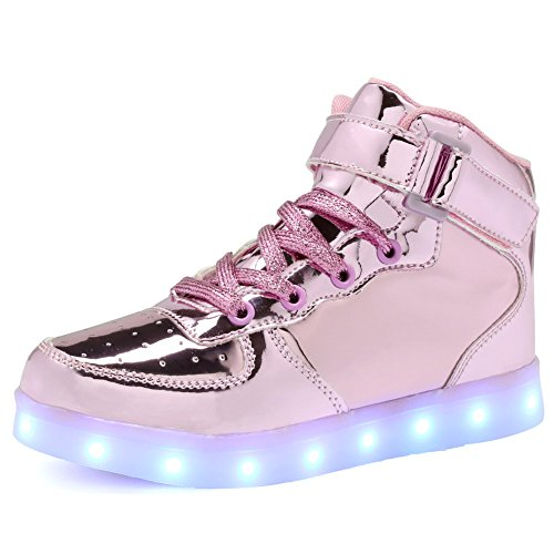 Toddler High Kid Up Top For Big pink Flashing Kids Shoes Light Kid Girl's Sneakers and Gift CIOR Christmas L Led Little Boy SqAWZ