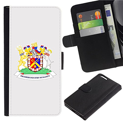 [Coat of arms of Bradford City Council] for Motorola Z2 Force/Moto Z2 Force Edition / Z2 Play / XY1710, Flip Leather Wallet Holsters Pouch Skin Case